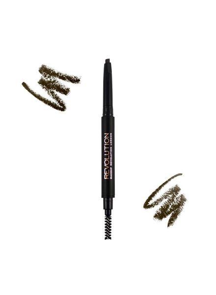 Makeup Revolution Makeup Revolution Duo Brow Pencil Medium Brown