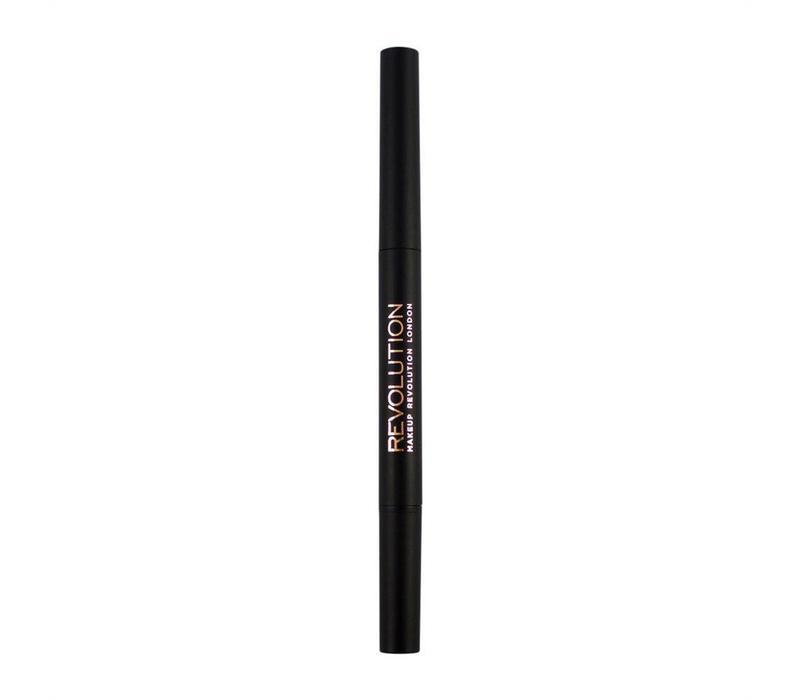 Makeup Revolution Duo Brow Pencil Medium Brown