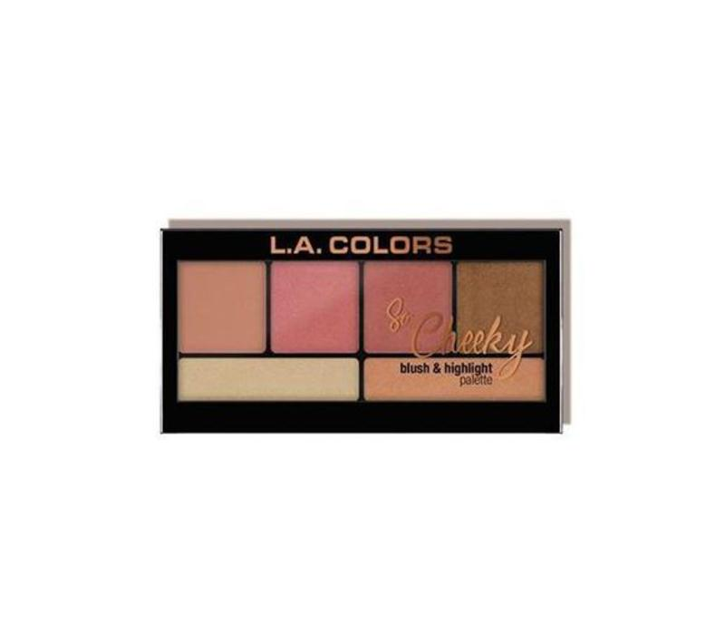 LA Colors So Cheeky Blush & Highlighter Peaches and Cream