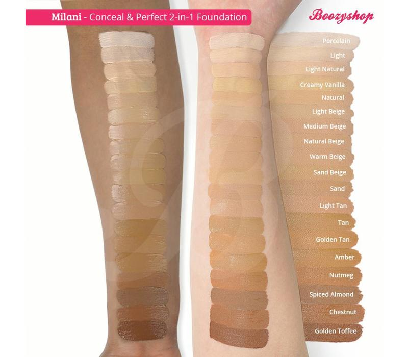 Milani Conceal & Perfect 2-in-1 Foundation and Concealer Golden Toffee