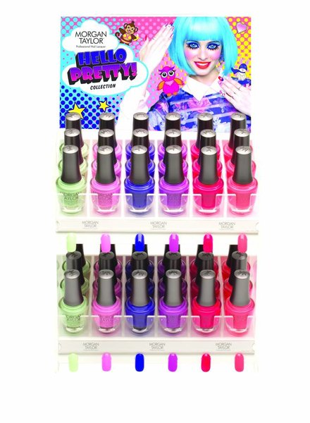 MORGAN TAYLOR 36PC HELLO PRETTY DISPLAY