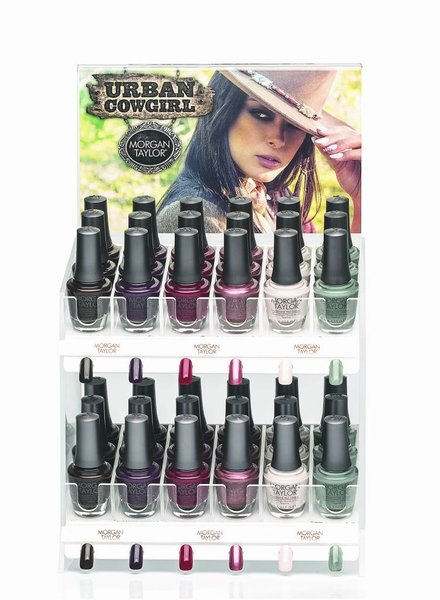 MORGAN TAYLOR 36PC URBAN COWGIRL DISPLAY