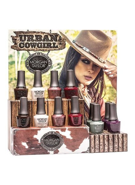 MORGAN TAYLOR 12 PC URBAN COWGIRL DISPLAY