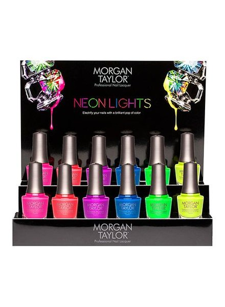 MORGAN TAYLOR 12PC NEON LIGHTS DISPLAY