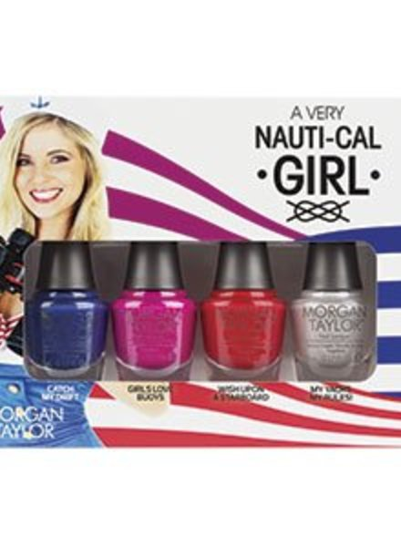 MORGAN TAYLOR 4 PC MINI A VERY NAUTI-CAL GIRL - NAUTICAL COLLECTION
