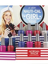 MORGAN TAYLOR 12ST A VERY NAUTI CAL GIRL COLLECTION DISPLAY