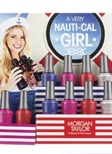 MORGAN TAYLOR 12PC A VERY NAUTI-CAL GIRL DISPLAY