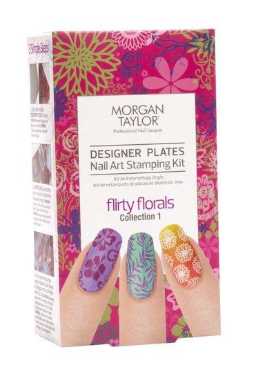 MORGAN TAYLOR FLIRTY FLORALS I DESIGNER PLATES KIT