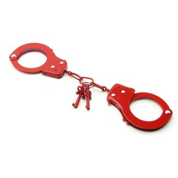 Fetish Fantasy Series Metal Handcuffs Red