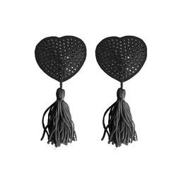 Ouch hartvormige tepelkwastjes - Zwart