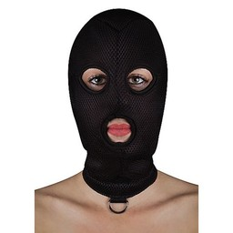 Ouch Extreem BDSM masker van netstof met D-ring
