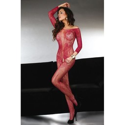 Livia Corsetti Fashion Rode Catsuit Met Open Kruis