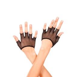 Musiclegs Korte Vingerloze Visnet Handschoenen - Zwart