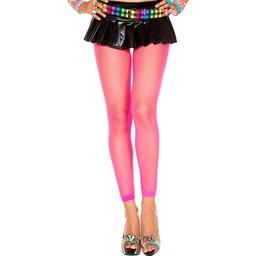 Musiclegs Lange Visnet Legging - Neon Roze