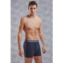 Doreanse Mannen Boxer Met Knoopje - Donkerblauw