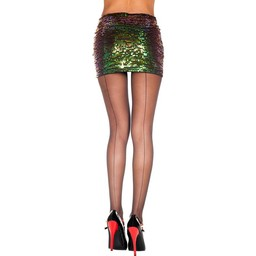 Music Legs Plus Size Klassieke Naadpanty - Zwart