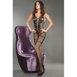 Livia Corsetti Fashion Net Catsuit - Zwart