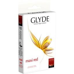 GLYDE Glyde Ultra Maxi Rood - 10 Grote Condooms