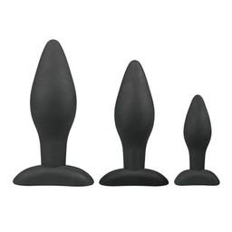 Easytoys Anal Collection Siliconen buttplugsetje - zwart