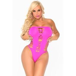 Cocolicious Maja Flava - naadloze bodysuit, roze