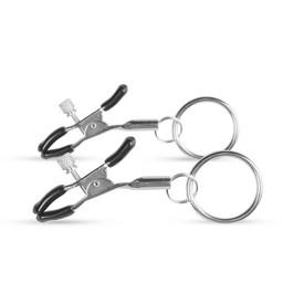 Easytoys Fetish Collection Metalen Tepelklemmen Met Ring