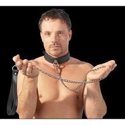 Zado Aanlijnketting met lederen polsband