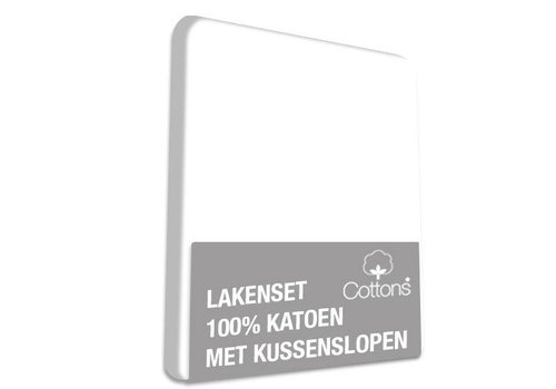 Cottons Lakenset Katoen Wit