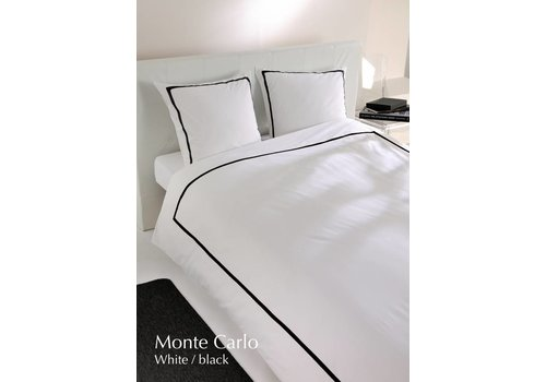 Carlina Dekbedovertrek percale Monte Carlo White Black