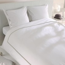 Dekbedovertrek percale Monte Carlo White Grey