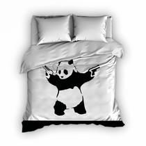 Dekbedovertrek Satijn Panda