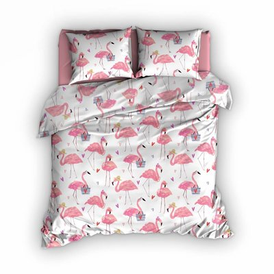 Satin d'Or Dekbedovertrek Satijn Flamingo