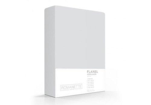 Romanette Hoeslaken Flanel Silver