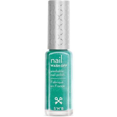 S'N'B Wash Off Pastel-Turkoois Glitter Glam Nagellak