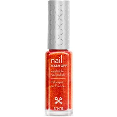 S'N'B Wash Off Oranjebruine Glitter Glam Nagellak