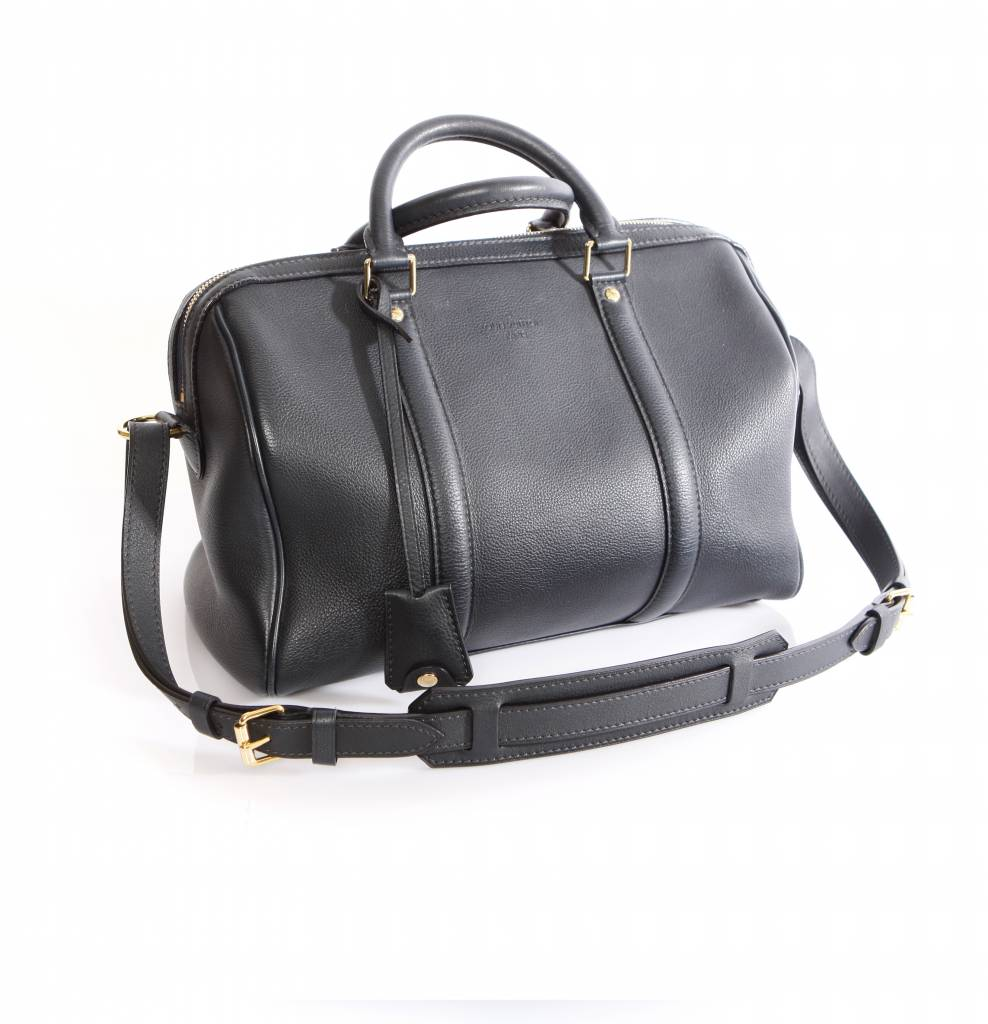Louis Vuitton Sofia Coppola Dark Blue Leather Shoulder Bag With Golden Hardware