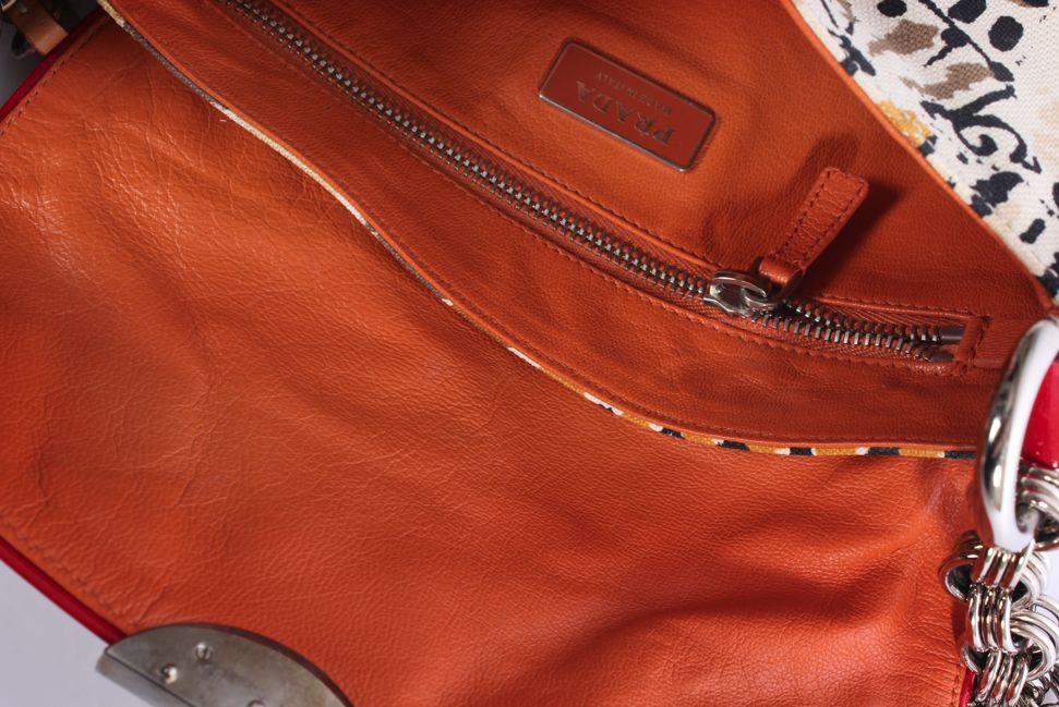 prada printed shoulder bag