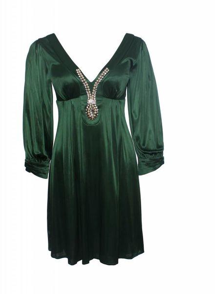 smaragd groene jurk