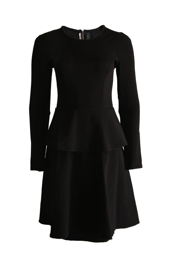 Uitzonderlijk Roland Mouret Roland, Mouret, Zwarte jurk met lange mouwen in maat #RV41