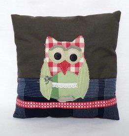 Sierkussen Owl grijs