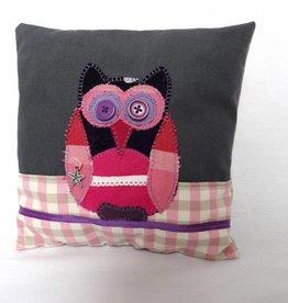 Sierkussen Pien Owl roze