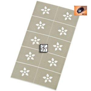 Nailart Nail Stamping Schablone Nr.014