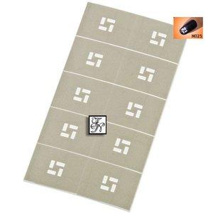 Nailart Nail Stamping Schablone Nr.025