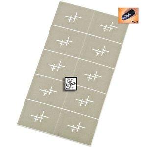 Nailart Nail Stamping Schablone Nr.036