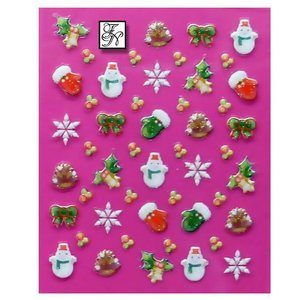 Nagelsticker Weihnachten 3D Nr.4