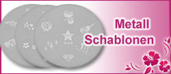 Nailart Stempel - Stamping Schablonen Metall