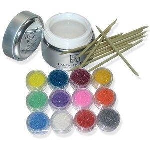 15g Dose 1 PhasenGEL + 5 Stäbchen + 12x Glitter