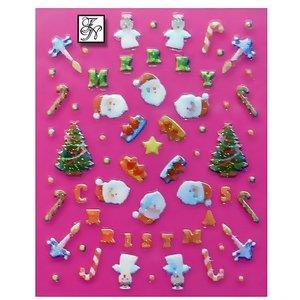 Nagelsticker Weihnachten 3D Nr.3