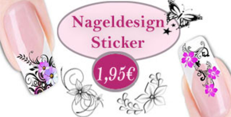 Nageldesign Sticker - Günstige Nagelsticker