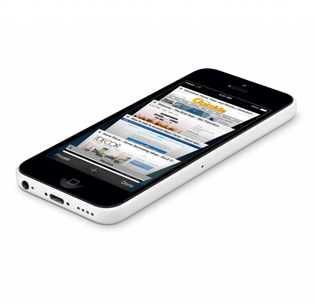 goedkope nieuwe iphone 5c 16gb wit white inclusief 12. Black Bedroom Furniture Sets. Home Design Ideas