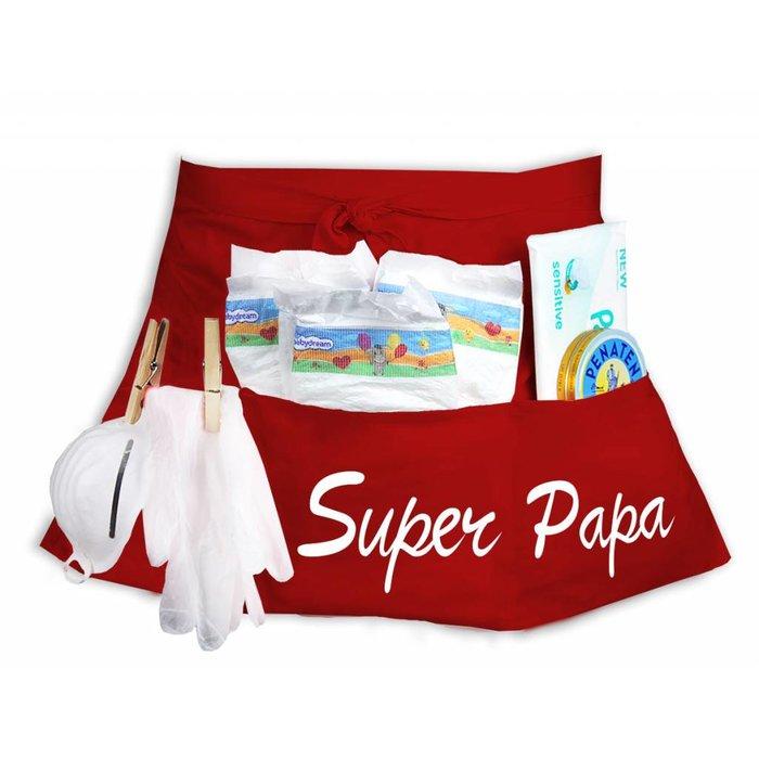 """""""Super Papa"""" Windeltasche Windel Starter-Set"""